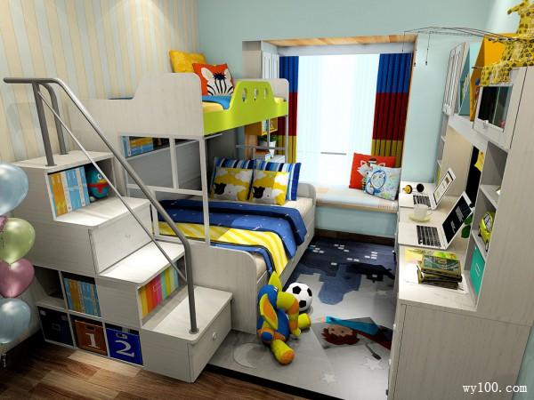 田园上下床儿童房装修效果图