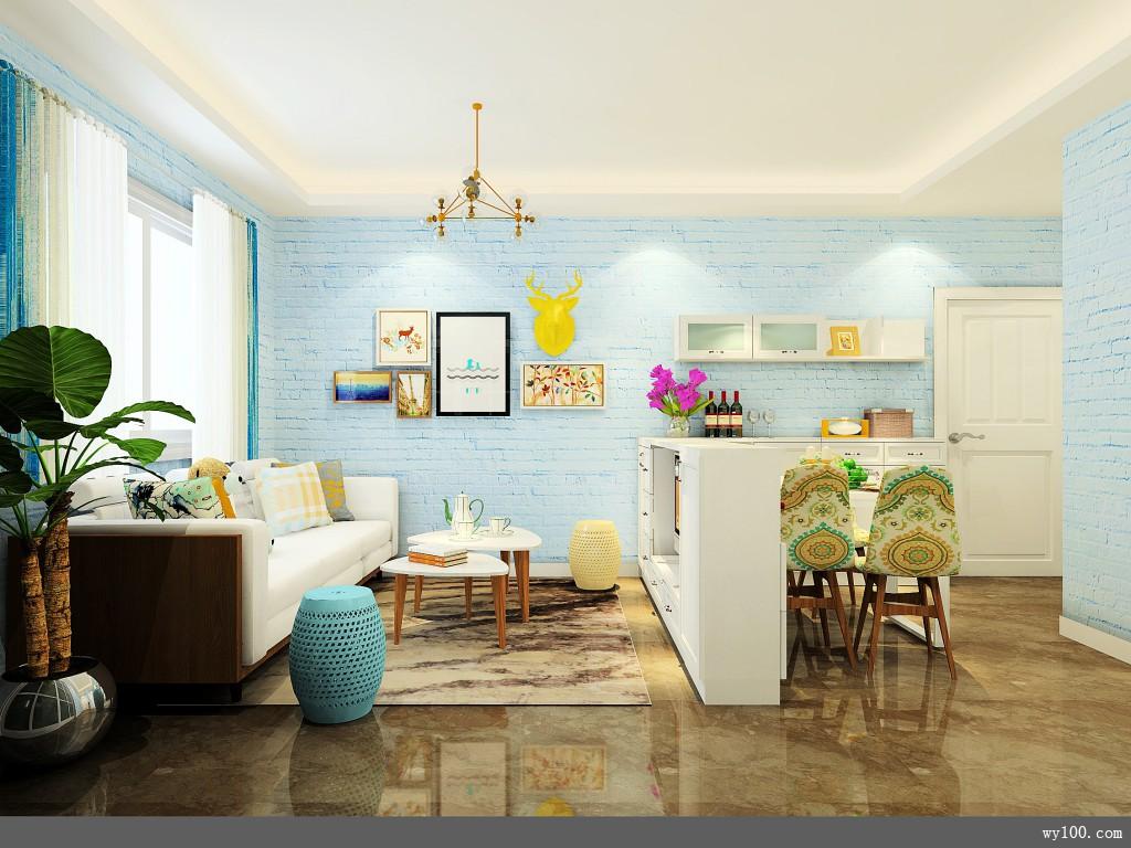 客餐厅装修效果图 19�O增加储物空间_维意定制家具商城