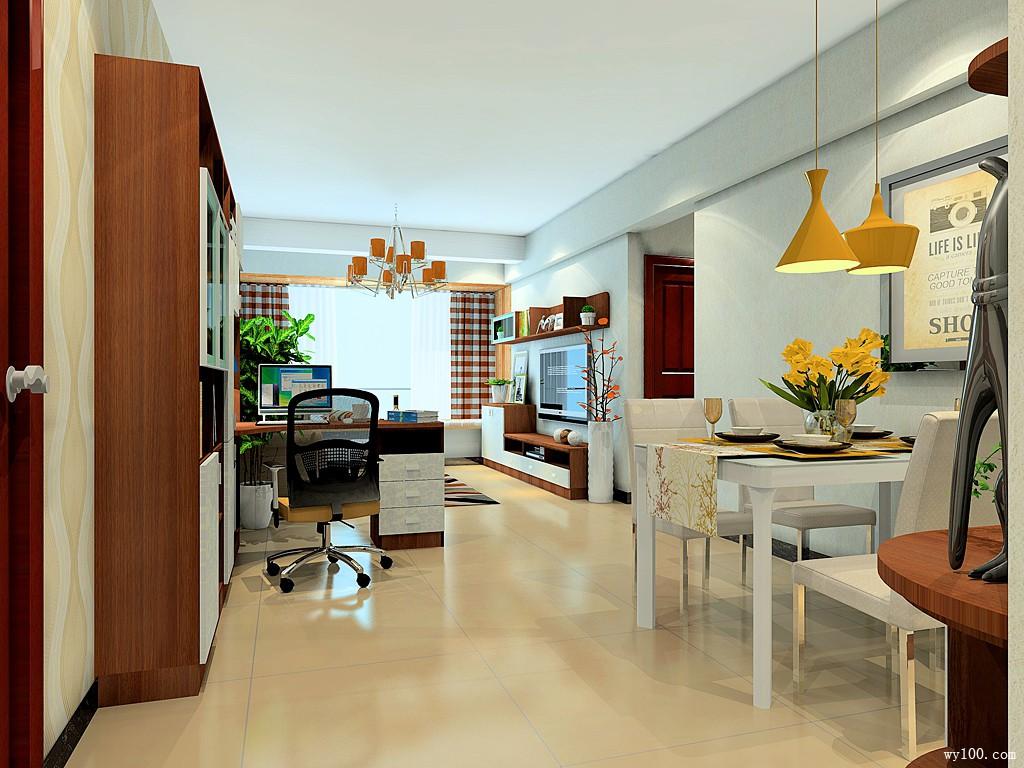 客餐厅装修效果图 60�O风格简约时尚_维意定制家具商城