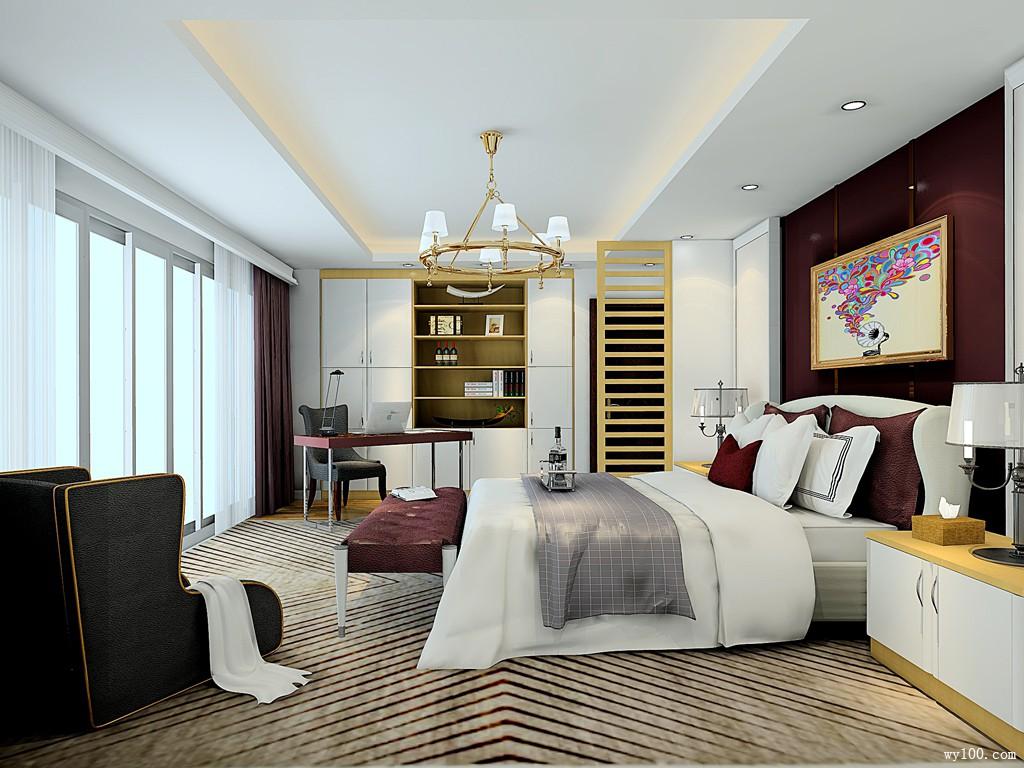 卧室设计图 26�O满足主人各种收纳需求_维意定制家具商城