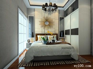 卧室设计图 9�O整体有淡淡的时尚气息 title=