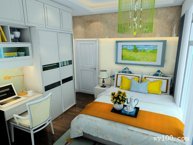 卧室装修效果图 9�O有效的利用房间的宽度 title=