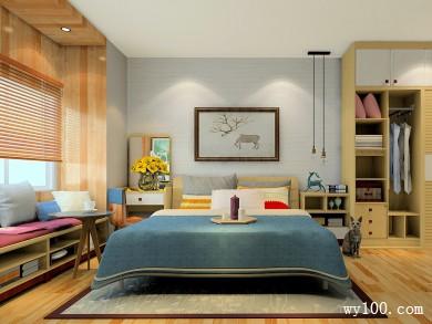 现代简约卧室效果图 16�O让整个空间即美观又实用 title=
