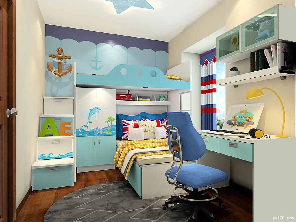 简约儿童房装修效果图