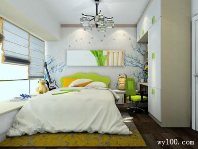 10�O现代卧室装修效果图 色彩和谐 title=