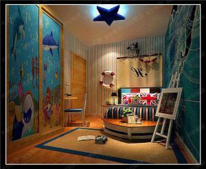 海洋风男孩儿童房