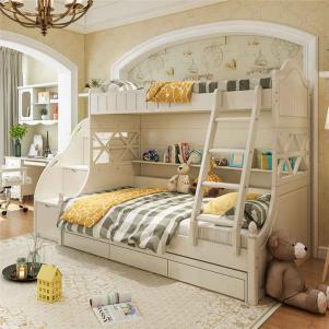 韩式多功能卧室高低床装修效果图