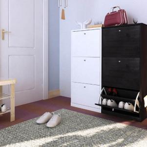 黑白配小型鞋柜