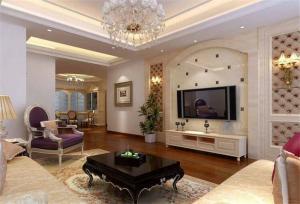 现代风格好看的客厅背景墙