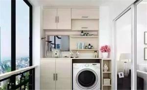美式洗衣机放阳台效果图