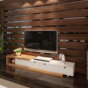 复古白色电视柜