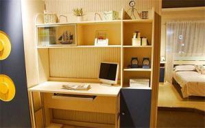 实用潮流书桌书柜组合效果图
