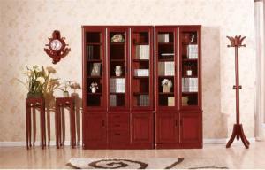 实木传统立式书柜
