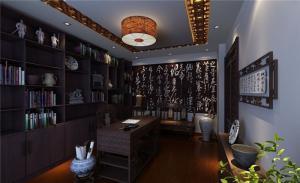 古典古风中式书房装修效果图