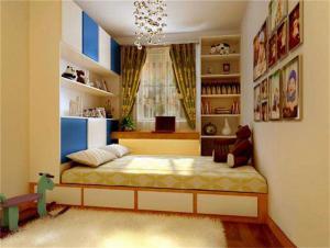 现代简约儿童房榻榻米设计