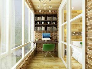 小面积阳台书房装修效果图
