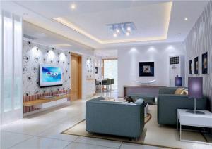 现代长方形客厅家具