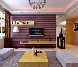 客厅简易悬挂式电视柜