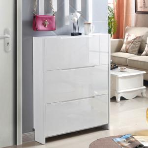 纯白色简易鞋柜