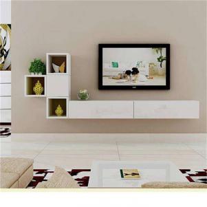 客厅白色挂墙式电视柜