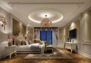 现代简易卧室布置