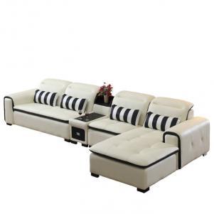 客厅转角真皮沙发