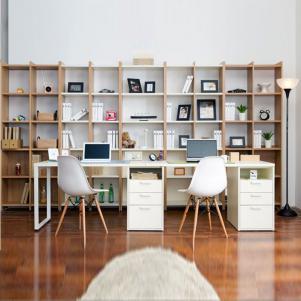 温馨现代双人书桌