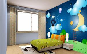 童趣儿童房背景墙