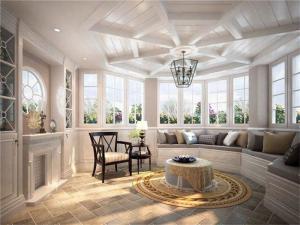 别墅美式风格阳台效果图