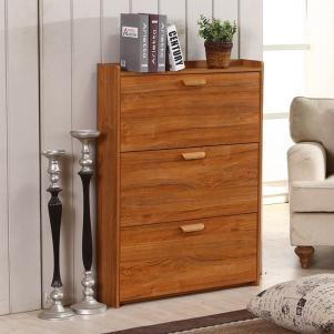 木质墙体鞋柜