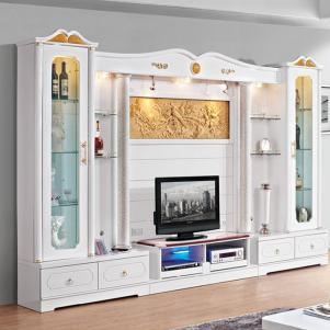简约现代白色电视柜