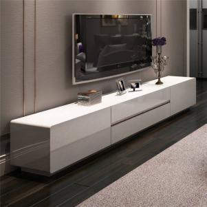 简易欧式白色电视柜