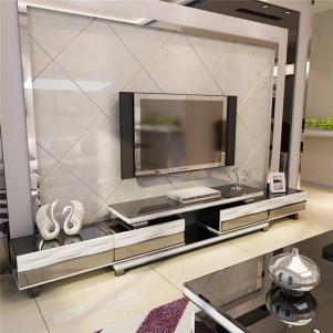 简易客厅白色电视柜