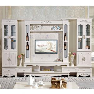 整体欧式背景墙电视柜