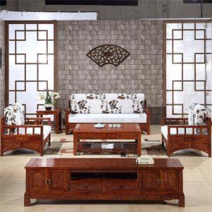 客厅茶几红木电视柜
