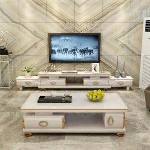 白色抽屉式好看的电视柜