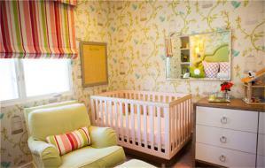 婴儿儿童房窗帘效果图