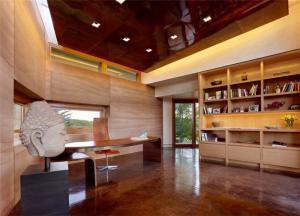 别墅书房新中式书柜