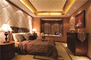 主卧室的床背景