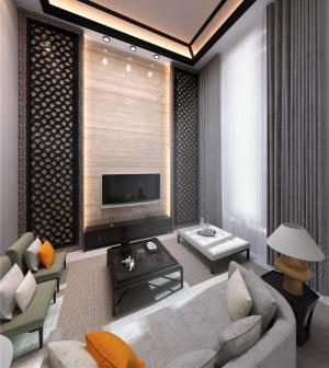 客厅布艺沙发组合