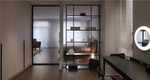 现代客厅隔断柜