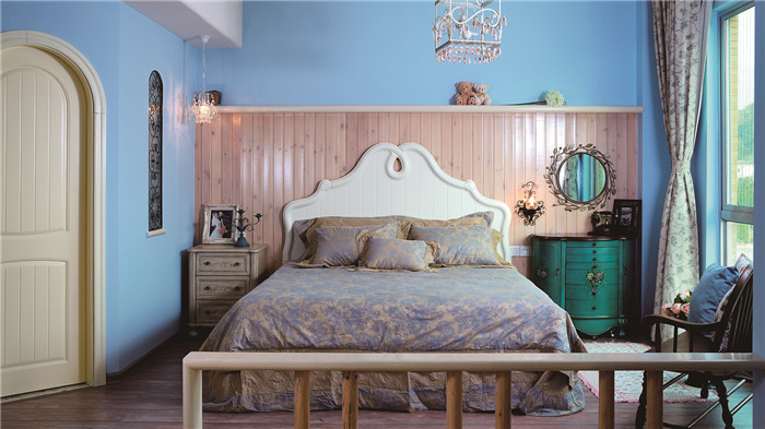 北欧风格主卧榻榻米床装修效果图图片