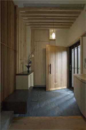 日式装修玄关背景墙