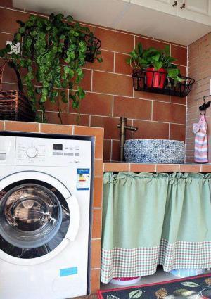 田园风格阳台洗衣池效果图