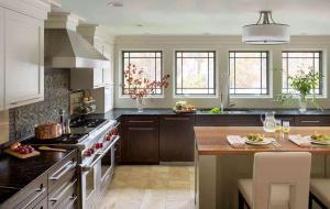 开放式家庭厨房橱柜