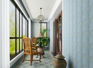东南亚客厅阳台装修效果图