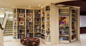 美式地下室创意书柜