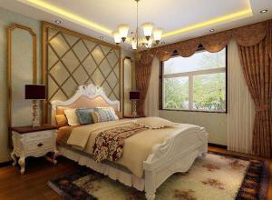 中式古典儿童房窗帘效果图.