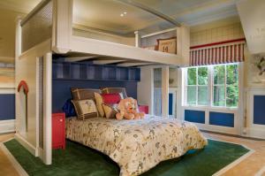 美式别墅儿童房双层床效果图