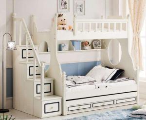 卧室高低床装修效果图实拍图